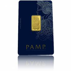 2,5 gramm Goldbarren Pamp Fortuna 999,9/1000