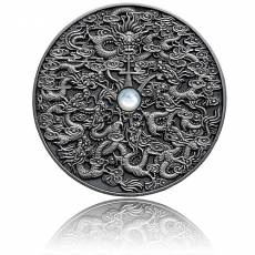 Silbermünze 2 oz Nine Dragons Chinesische Legenden High Relief Antik Finish 2020