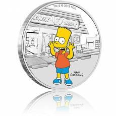 Silbermünze 1 oz The Simpsons Bart PP farbig 2019 2. Ausgabe