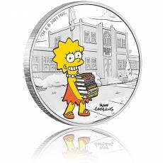 Silbermünze 1 oz The Simpsons Lisa PP farbig 2019 4. Ausgabe