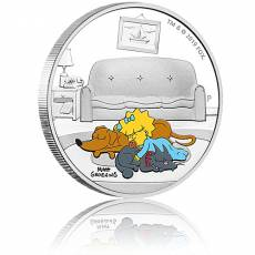 Silbermünze 1 oz The Simpsons Maggie PP farbig 2019 5. Ausgabe