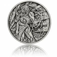 Silbermünze 5 oz Gods of Olympus Zeus Antik Finish 1. Ausgabe 2021