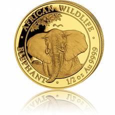 Somalia Elefant 1/2 Unze Gold (2021)