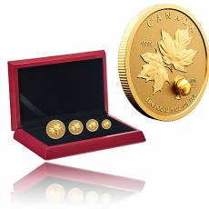 4 Coin Gold Maple Leaf Fractional Set 2021