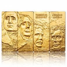 4 x 1 oz Silber Mount Rushmore National Memorial Set vergoldet 2021