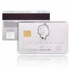 Silbermünze 1,5 oz 70 Jahre Credit Card Kredit Karte Polierte Platte 2020