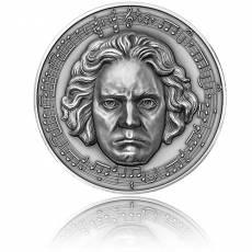 Silbermünze 3 oz 250. Jahrestag Beethoven mit Diamant Ultra High Relief 2020