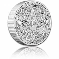 10 oz Silbermünze Australien Perth Mint Doppel Drache (2021)