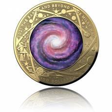 Goldmünze 1 oz Earth & Beyond Die Milchstraße gewölbt 2021