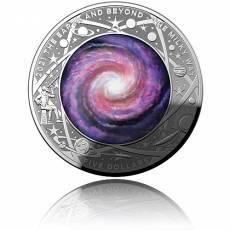 Silbermünze 1 oz Earth & Beyond Die Milchstraße gewölbt 2021