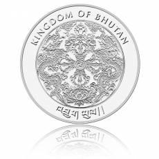 1 oz Silbermünze Kingdom of Bhutan Lunar Hund 2018
