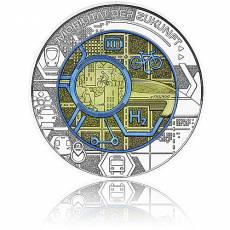 Silbermünze 25 Euro Niob Faszination Technik - Mobilität der Zukunft Österreich 2021