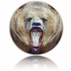 Silbermünze 2 oz American Grizzly Bear Ultra High Relief 2021