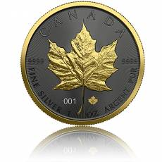 1 oz Silbermünze Maple Leaf Golden Ring 2021
