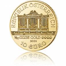 1/10 Unze Gold Wiener Philharmoniker 2021