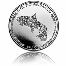 1 Unze Silbermünze Celtic Animals Salmon 2021