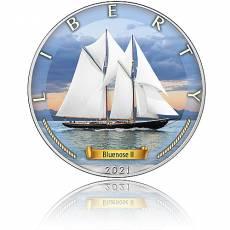Silbermünze Zeitalter der Segel Bluenose II 4. Ausgabe 2021