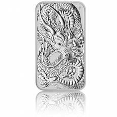 1 oz Silbermünze Perth Mint Rectangular Dragon 2021
