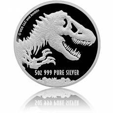 Silbermünze 5 oz Jurassic World 2021
