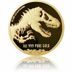 Goldmünze 1 oz Jurassic World 2021