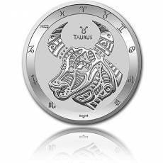 Silbermünze 1 oz Stier Tierkreiszeichen 2021