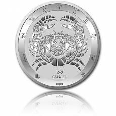 Silbermünze 1 oz Krebs Tierkreiszeichen 2021