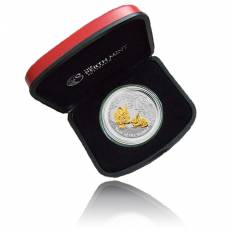 Austr. Lunar Hase Gilded Edition 1 Unze Silber teilverg. (2011)