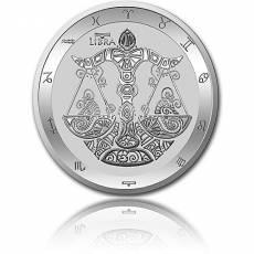 Silbermünze 1 oz Waage Tierkreiszeichen 2021