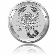 Silbermünze 1 oz Skorpion Tierkreiszeichen 2021