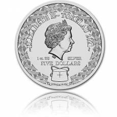 Silbermünze 1 oz Fische Tierkreiszeichen 2021