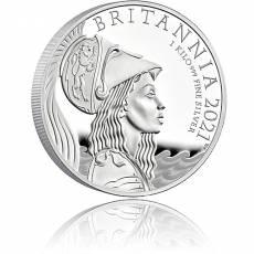 Britannia 1 kg Silber Premium Exclusive Polierte Platte  2021
