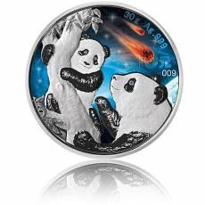 Silbermünze China Panda Leuchtende Galaxy Glowing Galaxy 2021