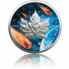 1 oz Silbermünze Maple Leaf Leuchtende Galaxy Glowing Galaxy 2021