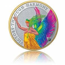 Silbermünze 1 Unze The Queen´s Virtues - Victory St. Helena Goldring Rainbow 2021