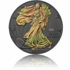 1 oz Silbermünze American Eagle Golden Holo Schimmer Effekt 2021