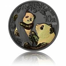 Silbermünze China Panda Golden Holo Schimmer Effekt 2021