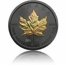 1 oz Silbermünze Maple Leaf Golden Holo Schimmer Effekt 2021