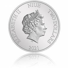 1 oz Silbermünze Der Herr der Ringe Classic - Gandalf  2. Motiv 2021