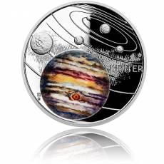 1 oz Silbermünze Solar System  Jupiter Polierte Platte (2020)