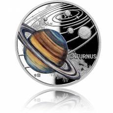1 oz Silbermünze Solar System  Saturn Polierte Platte 2021