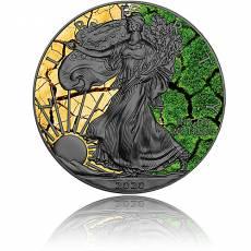 Silbermünze 1 oz American Eagle 4 Elemente - Erde 2021