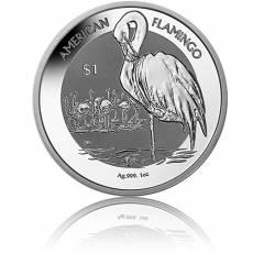 Silbermünze 1 oz American Flamingo Reverse Cameo 2021