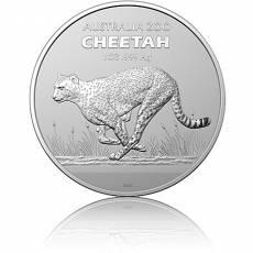 Silbermünze 1 oz Cheetah Gepard 2021 Zoo-Serie