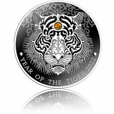 Silbermünze 1/2 oz Year of the Tiger Swarovski 2022