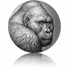 Silbermünze 2 oz Expressions of Wildlife Berggorilla 2021