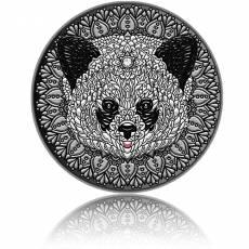 Silbermünze 2 oz Panda - Mandala - Art 2021