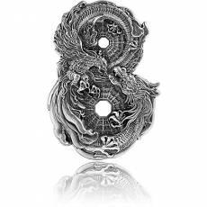 Silbermünze 3 oz Figure of 8 Dragon & Phoenix 2021