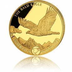 1 Unze Goldmünze Kongo World´s Wildlife - Bald Eagle 2021