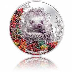 Silbermünze 1 oz Woodland Spirit Hedgehog Igel 2021