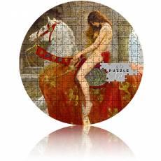 Silbermünze 3 oz John Collier -Ladyy Godiva Micropuzzle PP 2021
